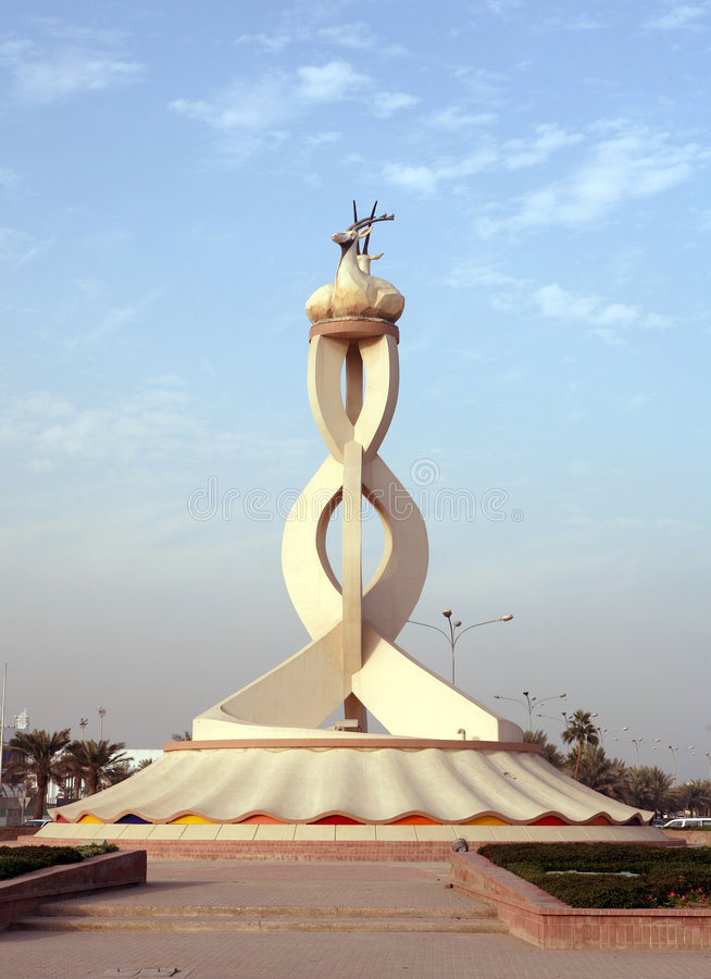 Dohaqatar Oryxdenkmal stockbilder