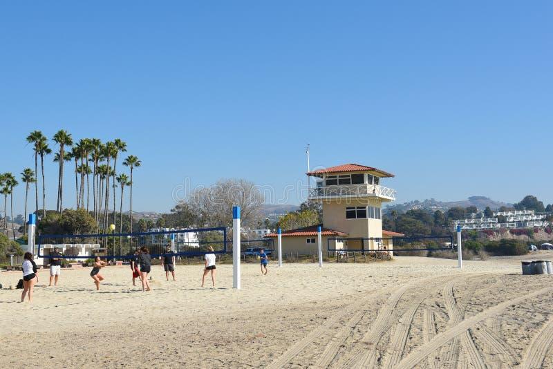 Doheny国家海滩排球场 库存照片
