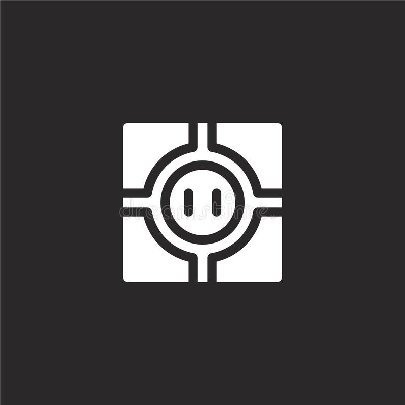 dohyo icon. Filled dohyo icon for website design and mobile, app development. dohyo icon from filled martial arts collection stock illustration