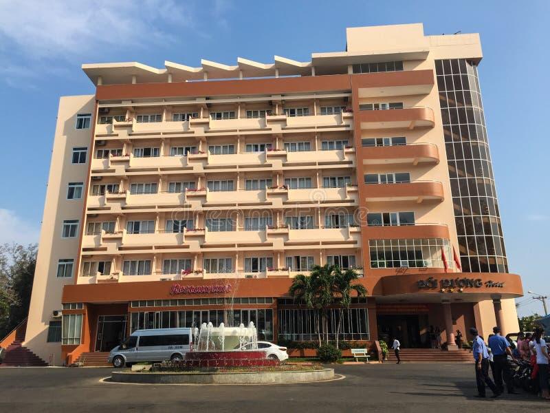 Doi Duong hotel - high buiding on a beach. Doi Duong hotel - high buiding on a beach in Phan Rang, Vietnam stock photo