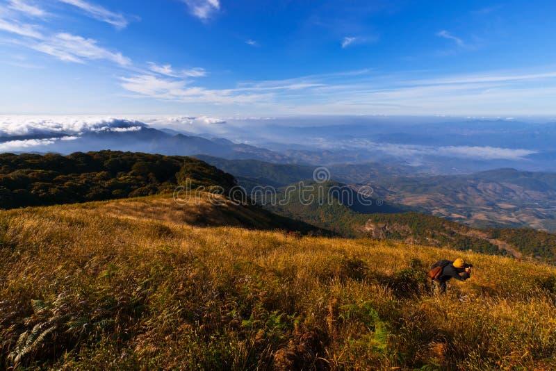 Doi Inthanon, natureza, paisagem, vê a montanha imagem de stock