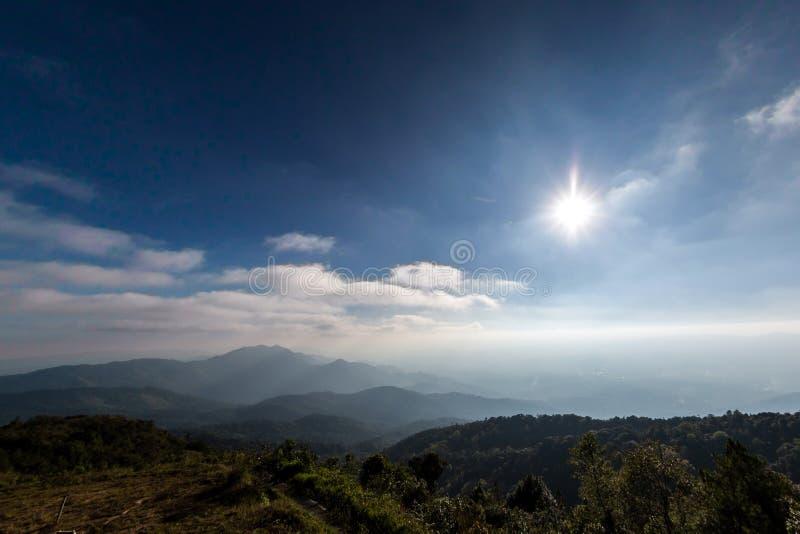 Doi Inthanon wzgórza zdjęcia stock
