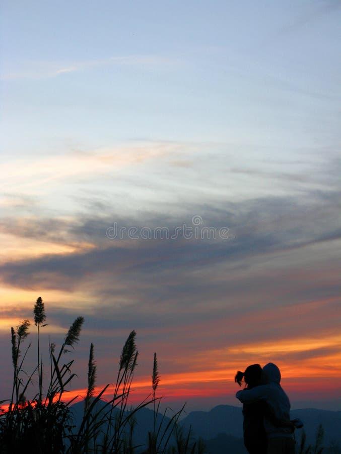 Doi Kiew Lom Scenic Point, Mae Hong Son Province, Thailand stock afbeeldingen