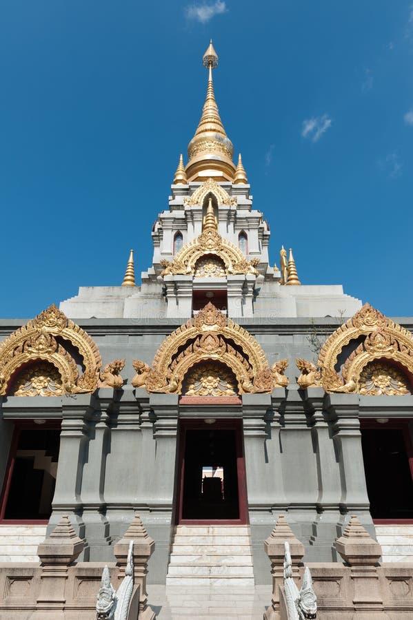 Doi Mae Salong. Temple on the top of the mountain of Doi Mae Salong stock photography