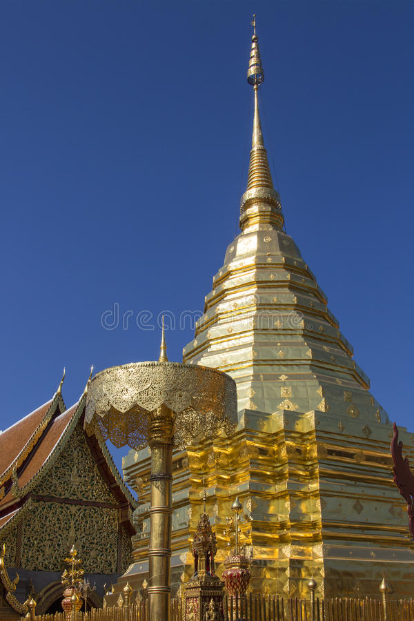 Doi Suthep Buddhist Temple - Chiang Mai - Thailand royalty free stock images