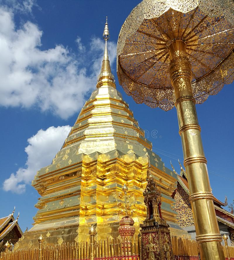 Doi Suthep Pagoda fotografía de archivo libre de regalías