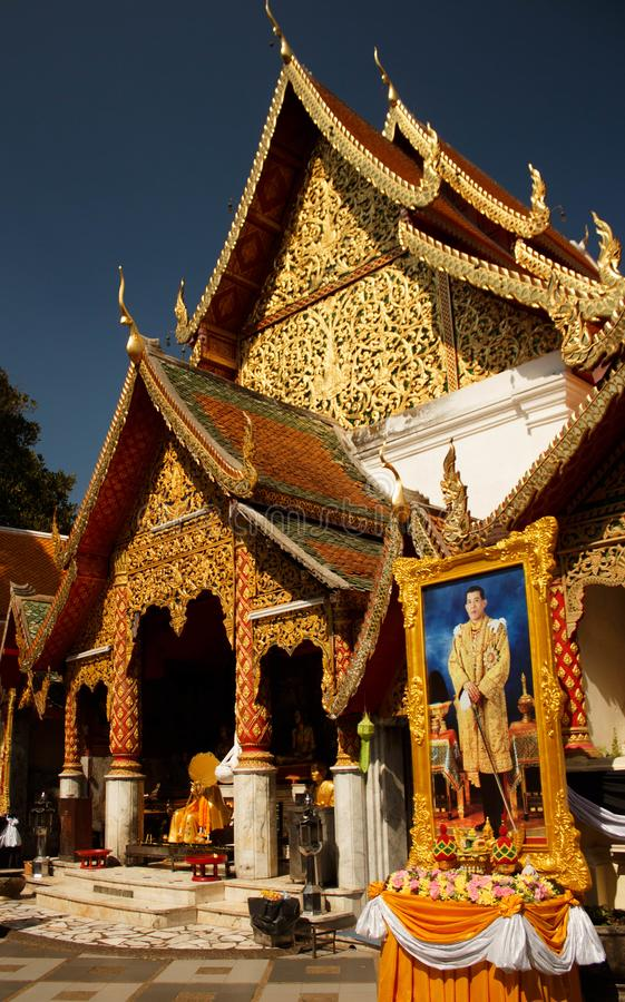 Doi Suthep, Photo of King - Bhumibol Adulyadej the longest reigning monarch in the world, Chiang Mai, Thailand stock image