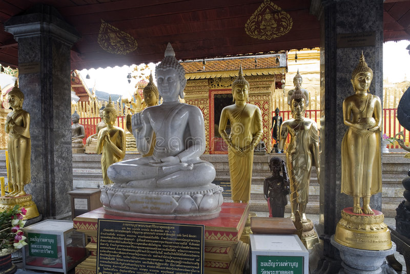 Doi Suthep, Tempel in Chiang Mai, Thailand lizenzfreie stockfotografie