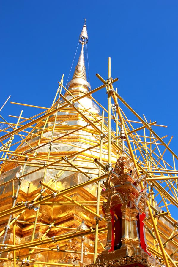Doi Suthep Temple in ChiangMai, Thailand stockbilder
