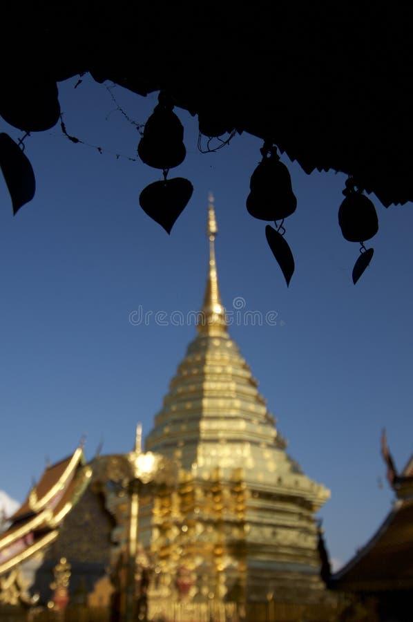 Doi Suthep Temple e windchimes fotografia stock libera da diritti