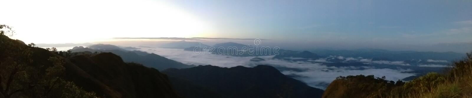 Doi Tulay & x28; tulay mountain& x29; panoramasikt arkivbild