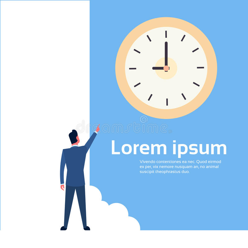 Download Doigt De Point D'homme D'affaires Au Concept De Date-butoir De Gestion Du Temps D'horloge Illustration de Vecteur - Illustration du métier, compagnie: 77158494