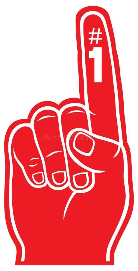 Doigt rouge de mousse illustration libre de droits