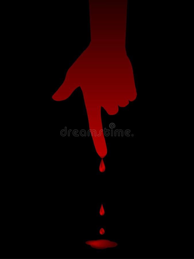 Doigt sanglant illustration libre de droits