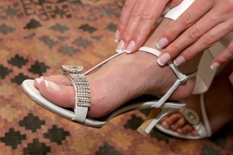Doigts de chaussure images stock