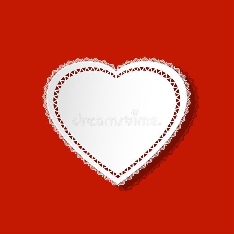 Doily καρδιών διανυσματική απεικόνιση