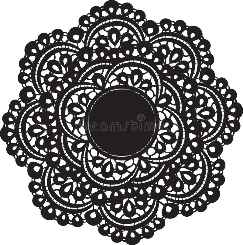 Doily. Lace silhouette vector pattern