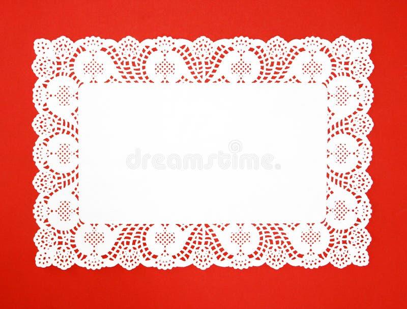 doily biel galanteryjny istny fotografia royalty free