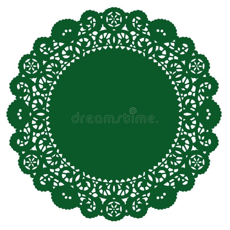 doily emerald lace round vektor illustrationer