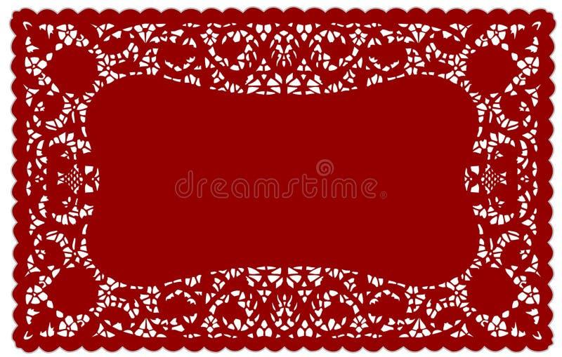 doily lace mat place vintage royaltyfri illustrationer