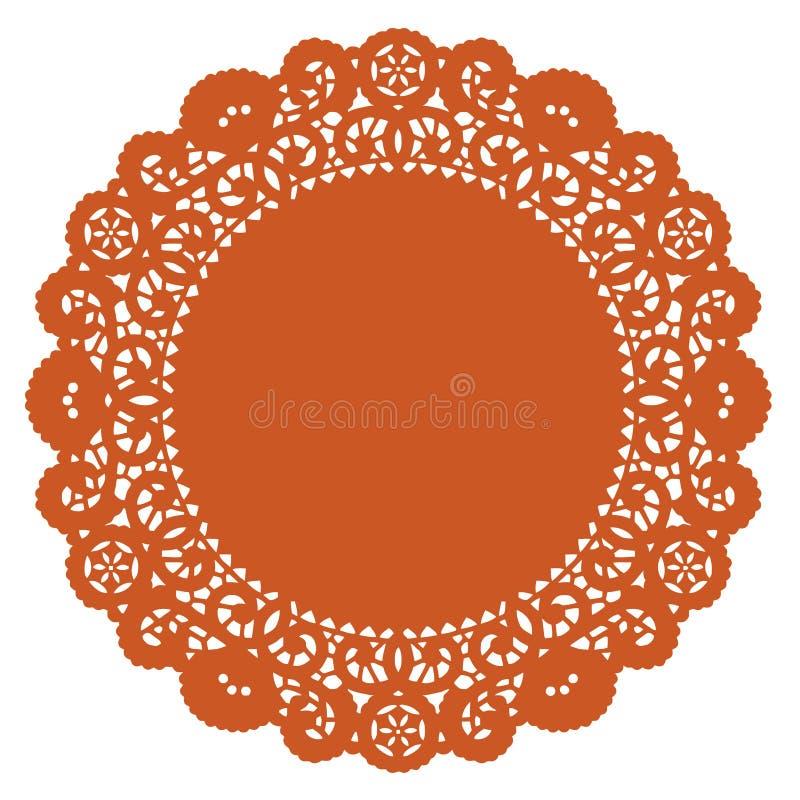 doily lace pumpkin round stock illustrationer