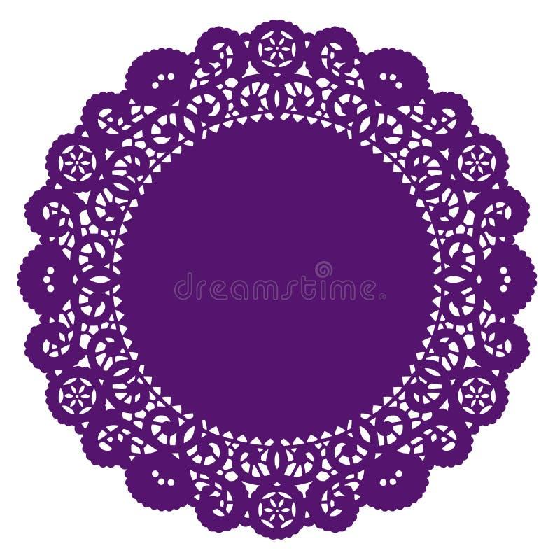 doily lace purple round royaltyfri illustrationer