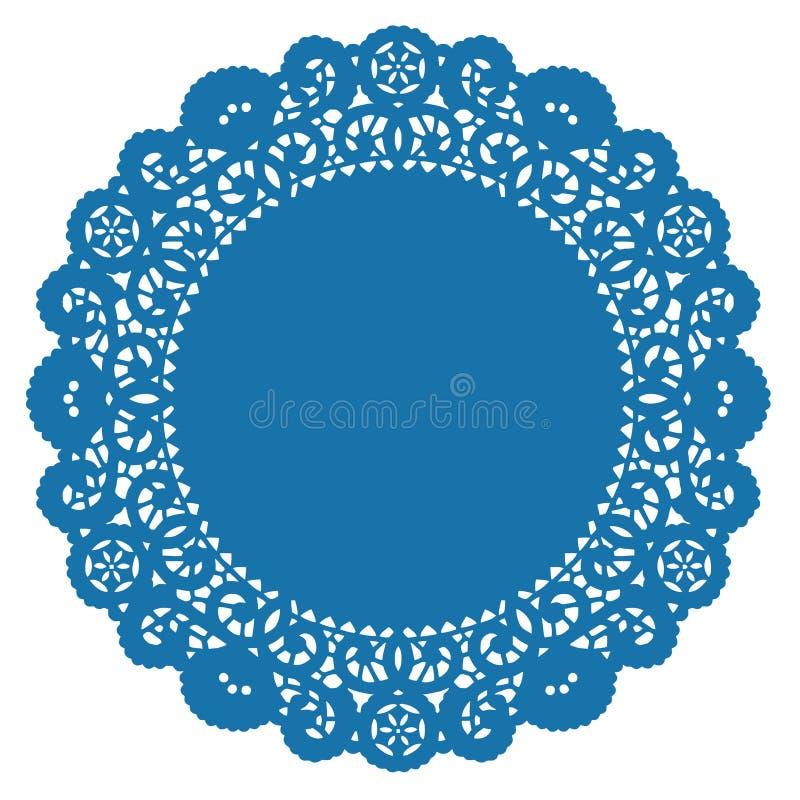 doily lace round turquoise stock illustrationer