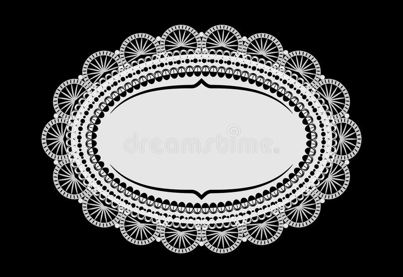 Download Doily mat stock illustration. Illustration of copy, elegant - 24297986