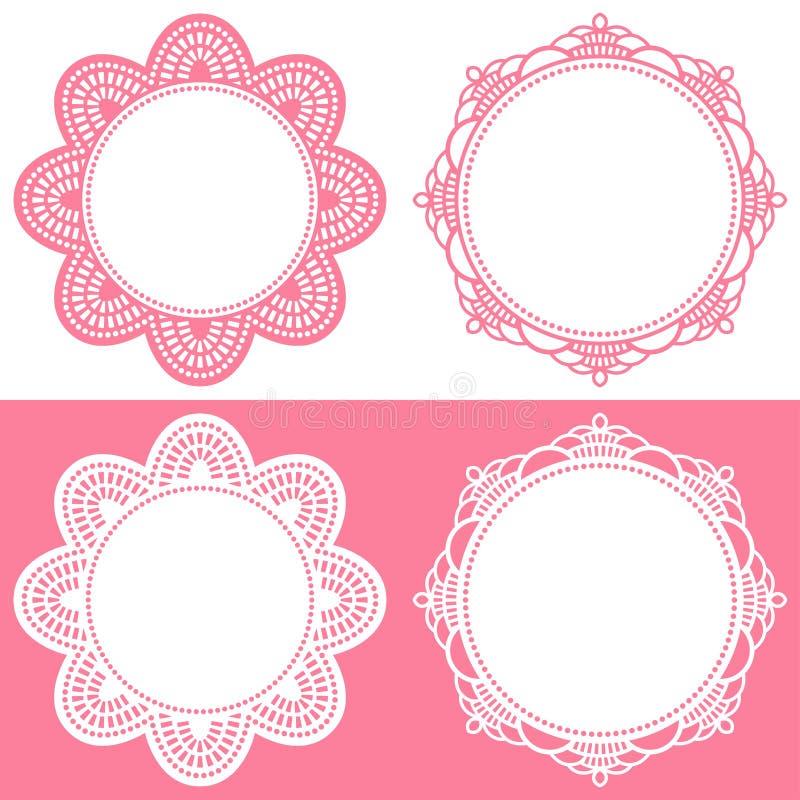 Doily pictogrammen royalty-vrije illustratie