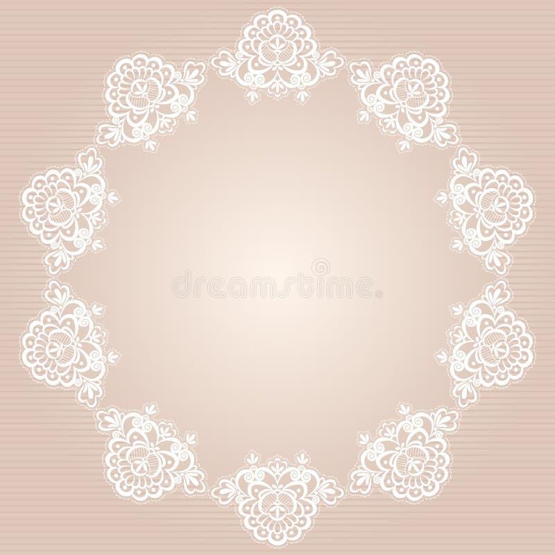 Doily redondo ilustração royalty free