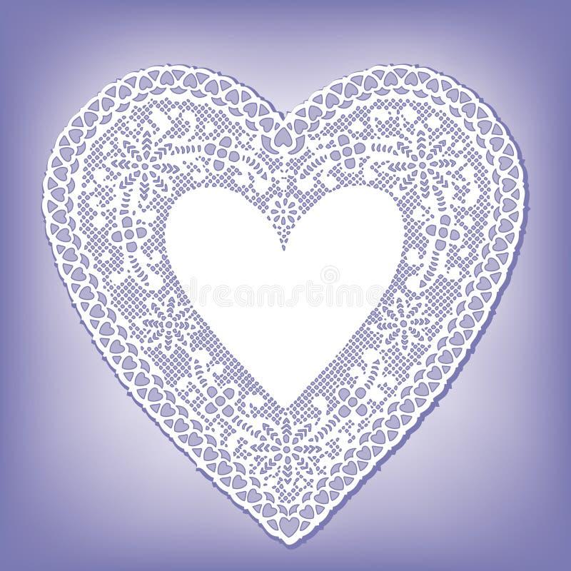 Doily van het kant Hart (jpg+eps) royalty-vrije illustratie