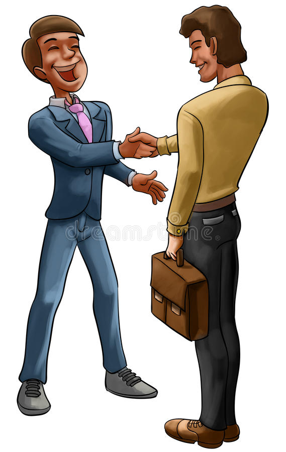 Download Doing a deal stock illustration. Illustration of happy - 18593944