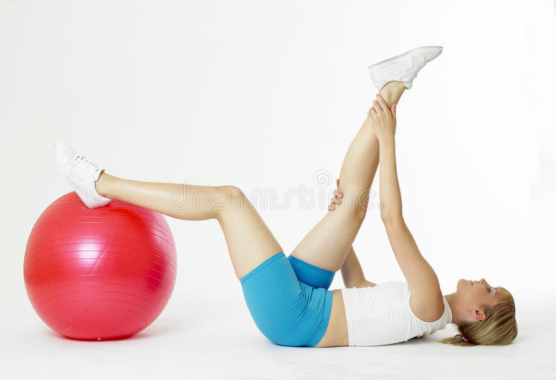 Download Doing exercises stock image. Image of down, movement - 17019097