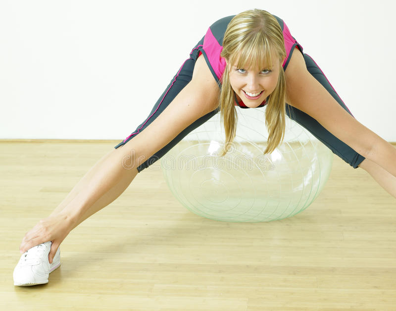 Download Doing exercises stock photo. Image of indoors, fitness - 17019104