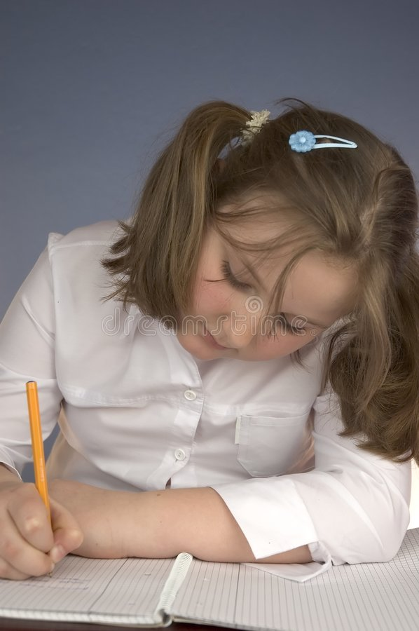 Download Doing homework stock photo. Image of pretty, childrens - 116790