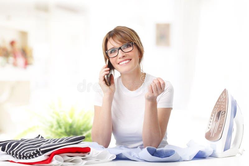 Doing housework royalty free stock image