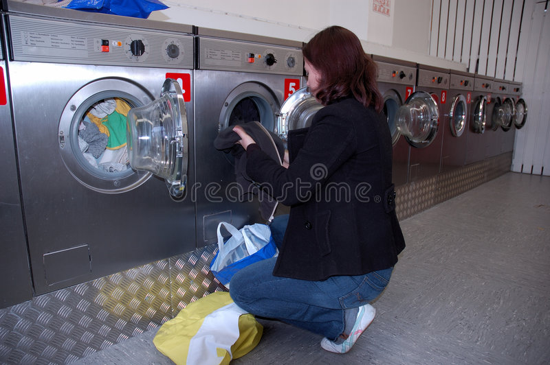 Doing the Laundry royalty free stock photo