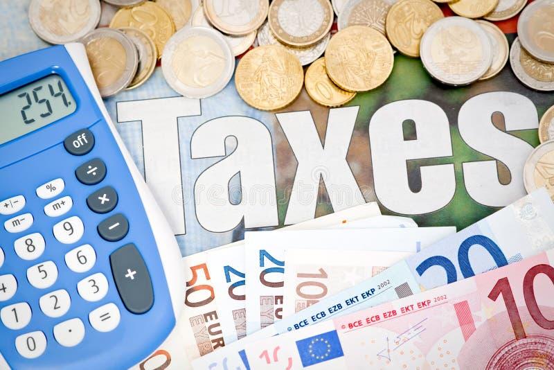 Doing Taxes Euro royalty free stock photography