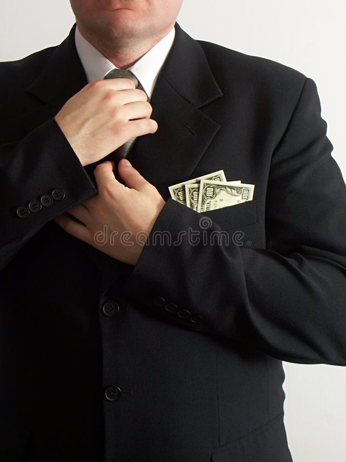 Doing a tie stock photography
