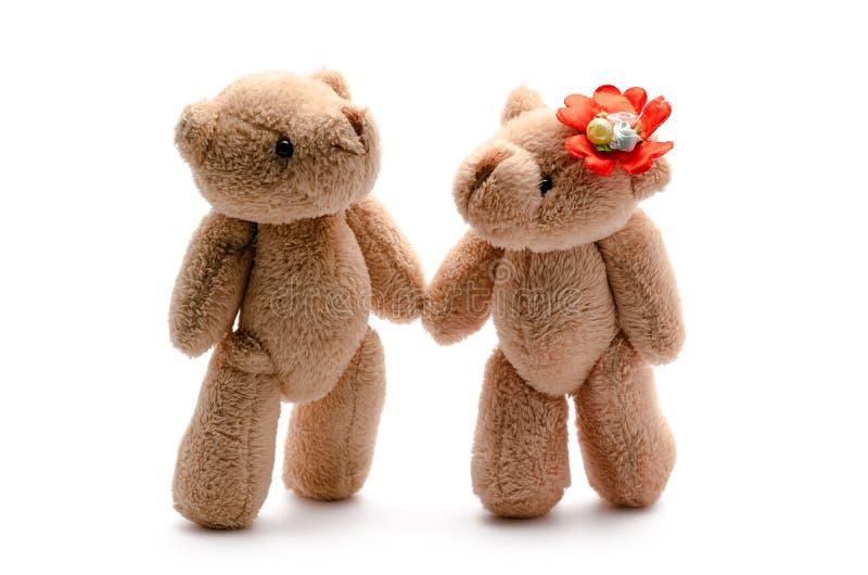 Dois amantes dos ursos do brinquedo fotos de stock royalty free