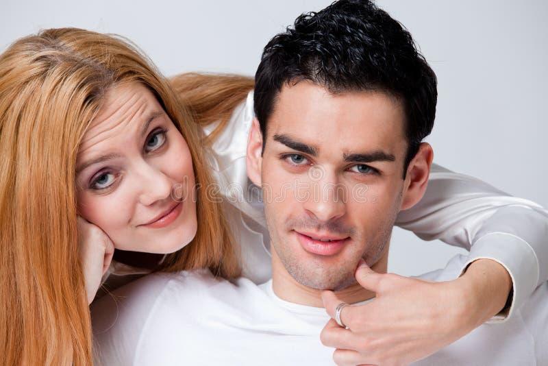 Dois amantes no romance imagens de stock royalty free