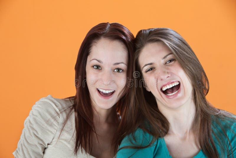 Dois amigos felizes fotografia de stock
