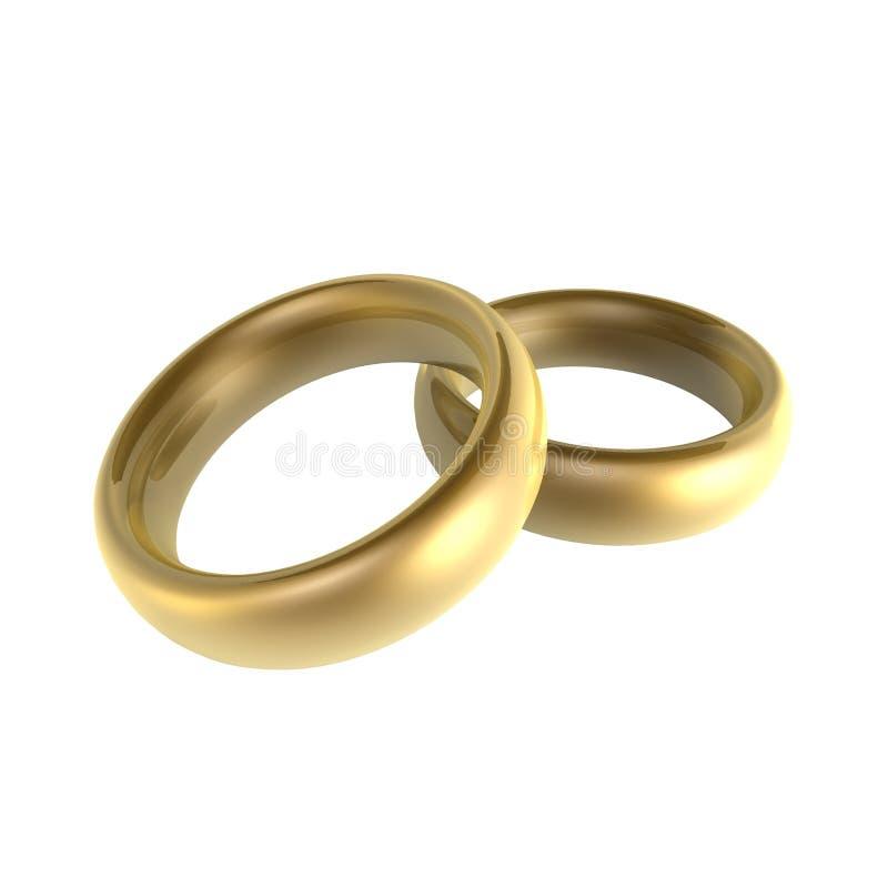 Dois anéis ilustração stock