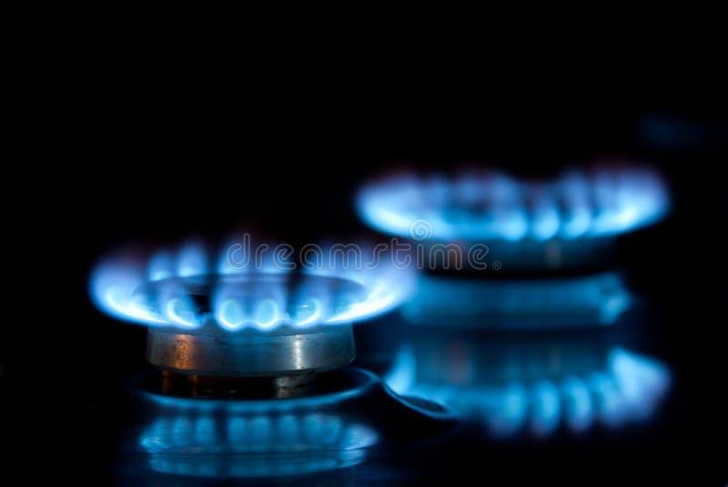 Dois anéis de gás fotos de stock