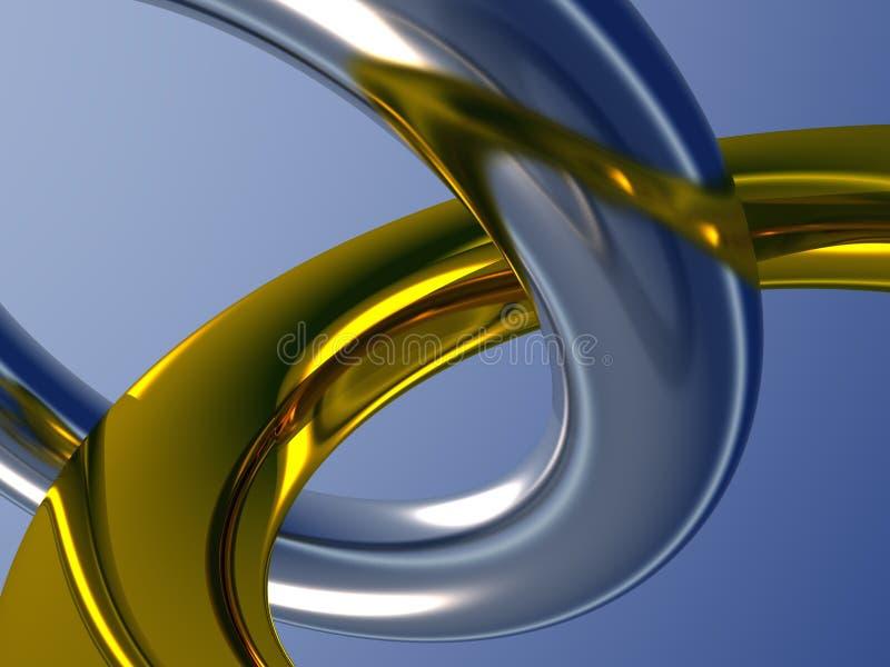 Dois anéis do metal ilustração do vetor