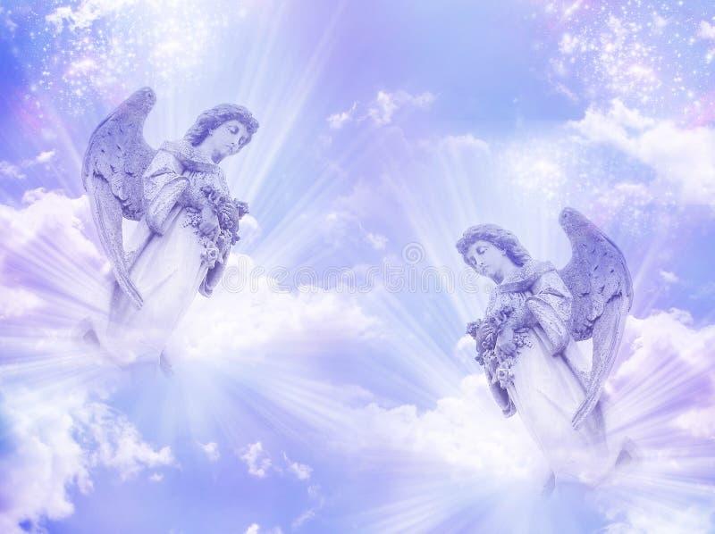 Dois anjos imagem de stock