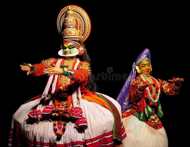 Dois atores do kathakali imagem de stock royalty free