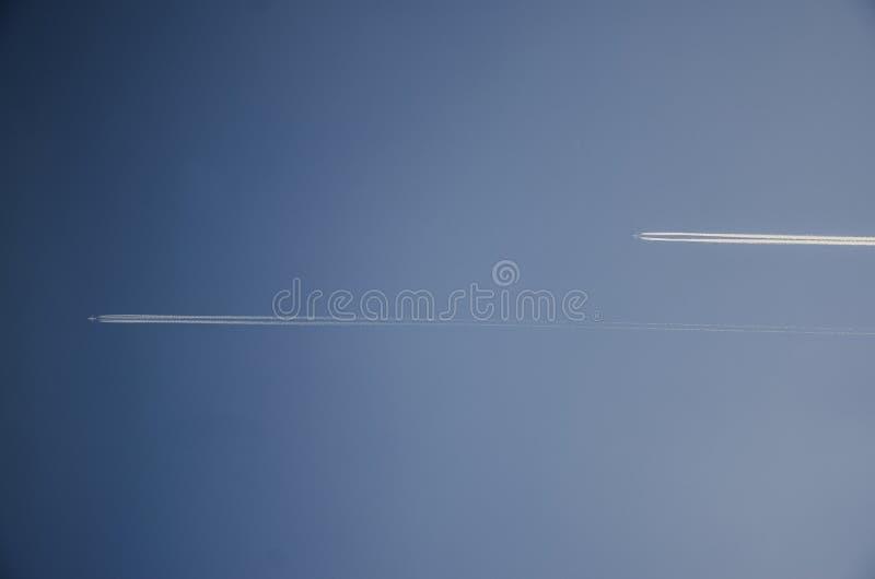 Dois aviões imagem de stock royalty free
