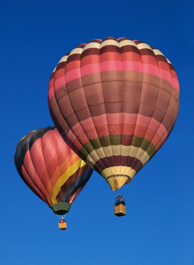 Dois balões fotografia de stock royalty free