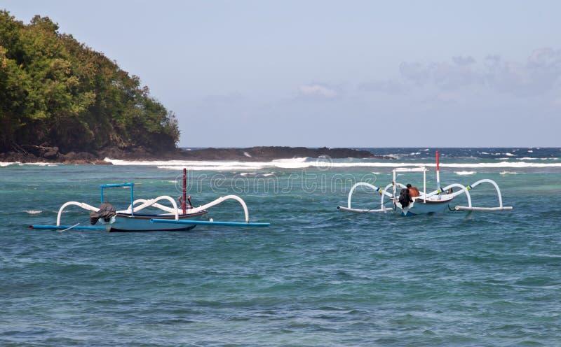 Dois barcos em Padangbai fotos de stock royalty free